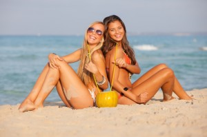 Spring Break Teens on the Beach
